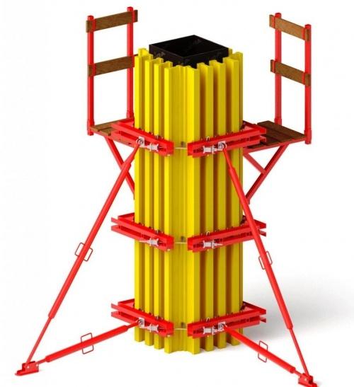 Балочно-ригельная опалубка колонн