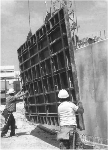 демонтаж опалубки стен
