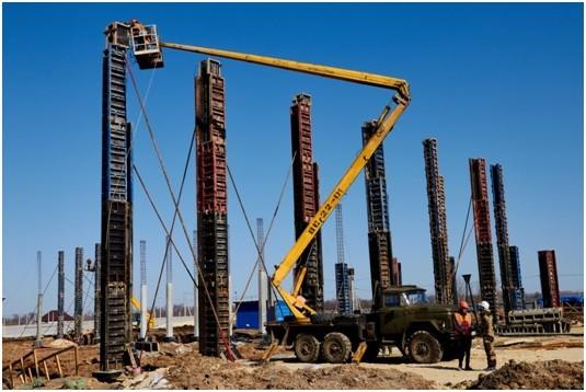 демонтаж опалубки для колонн